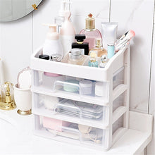 Load image into Gallery viewer, Translucent Drawer Cosmetic Storage Box Desktop Storage Rack Skin Care Product Rack 3-Layer