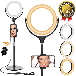 bluetooth Remote Control 8 Inch Live Beauty Fill Light Desktop Photo Anchor Fill Light Mobile Phone Bracket 20cm Live Ring Light