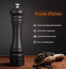 Load image into Gallery viewer, 8 Inch Wood Manual Pepper Salt Mill Shaker