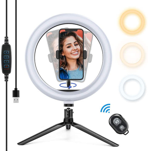 USB bluetooth Remote Control Selfie Small Desktop Stand Live LED Light Fill Light Ring Light Beauty