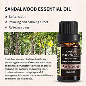100% Pure Natural Sandalwood Essential Oil (10ml/30ml)