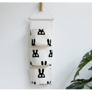 3-Pockets Hanging Utensil Storage Bag