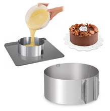 Load image into Gallery viewer, Stainless Steel Adjustable Round Cake Mold