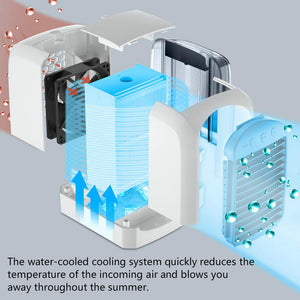 Mini Portable Air Conditioner Water Cooled Fan USB Office Desktop Add Water Fan Air Conditioning Fan