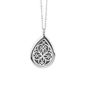 Silver Drop Shaped Magnetic Aroma Necklace