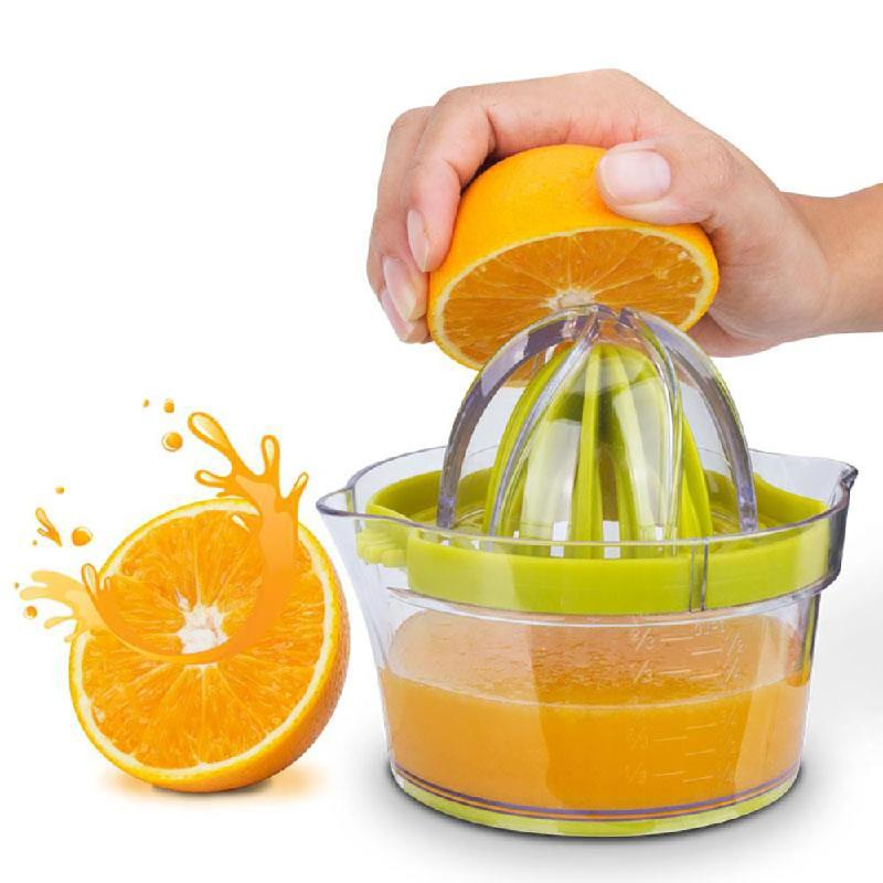 Manual Juicer With Built-in Measuring Cup and Grater