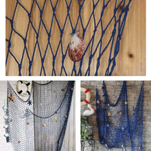 Load image into Gallery viewer, Blue Mediterranean Style Decorative Fish Net