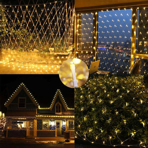 200LED Fairy Net Mesh Curtain String Lights Xmas Wedding Party Decor Outdoor
