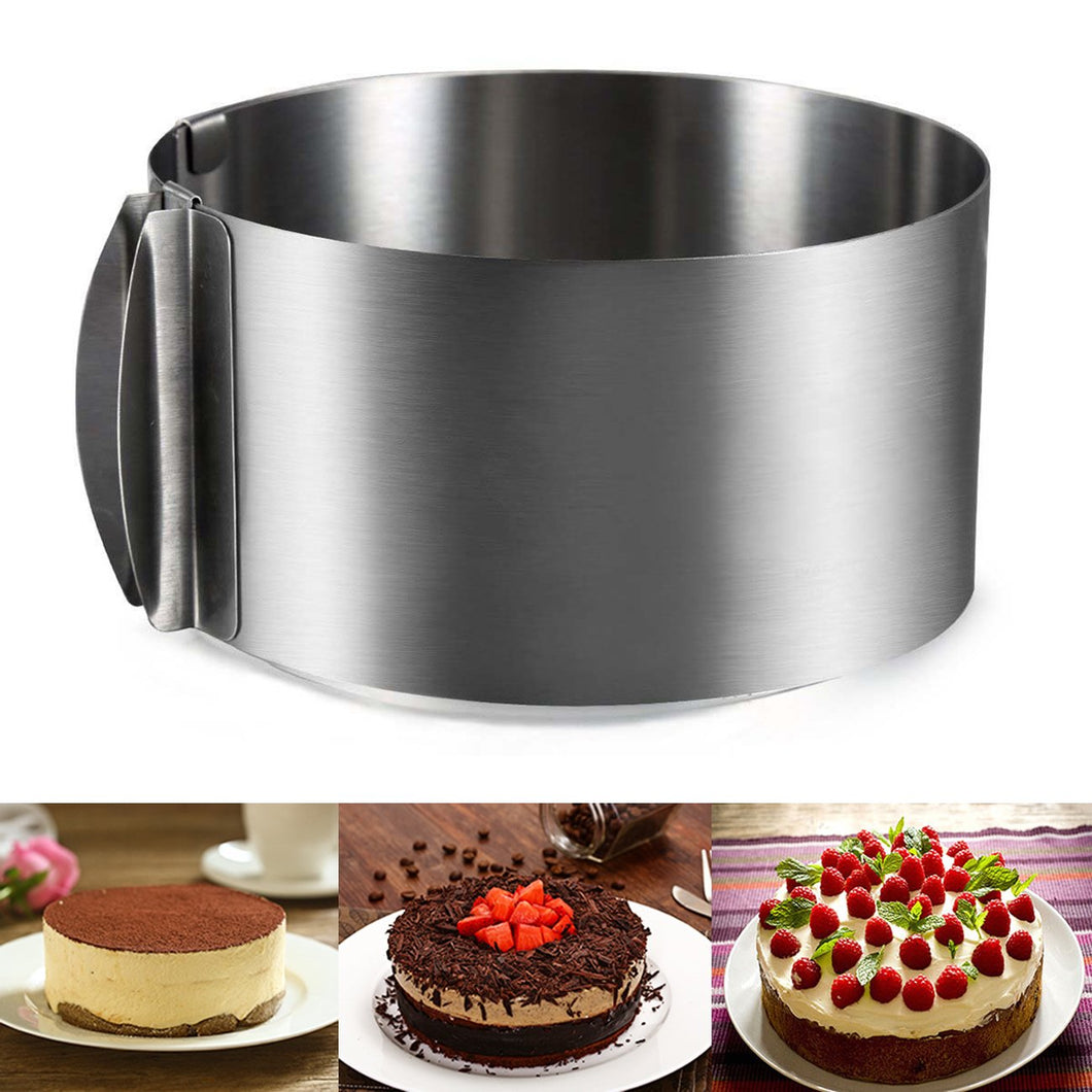 Stainless Steel Adjustable Round Cake Mold
