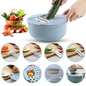 Wheat Straw Round Hand-pull Vegetable Cutter