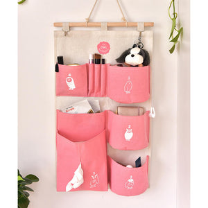 Cartoon Owl Washable Receive Home Hanging Storage Bag
