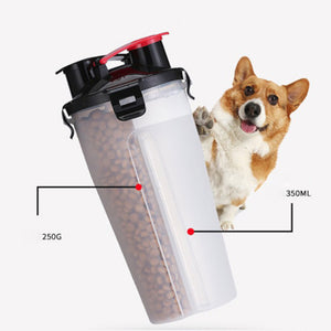 Outdoor Bottle for Pet Dog Feeder Drinking Folding Bowl