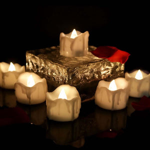 12 Flameless Votive Decor LED Candles Lamp