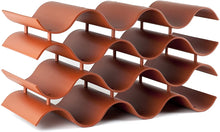 Load image into Gallery viewer, Wave Wine Rack (12Bottle, Terra Cotta)