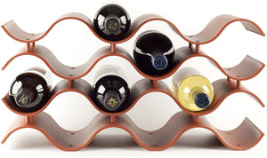 Wave Wine Rack (12Bottle, Terra Cotta)