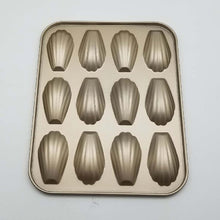 Load image into Gallery viewer, 12-Cups Nonstick Madeleine Pan Cake Mold