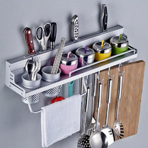 Aluminum Wall Mounted Kitchen Storage Rack