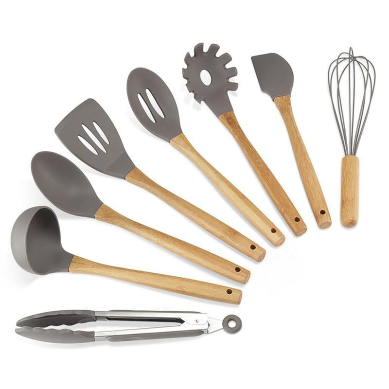8Pcs/Set Silicone Kitchen Utensils