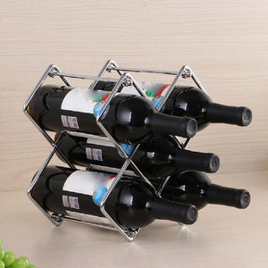 5-Bottles Square Detachable Iron Wine Rack