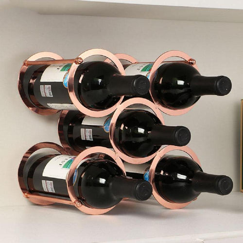 5-Bottles Round Detachable Iron Wine Rack