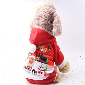 Cute Christmas Cotton Sweater Pet Dog Clothes
