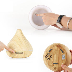 Shallow Wooden-grain Aroma Diffuser