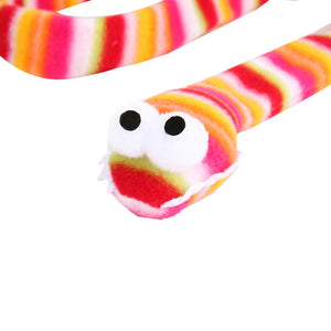 Cat Toys- Rainbow Snake Bell  Funny Cat Stick