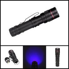 Load image into Gallery viewer, Telescopic focusing mini UV flashlight