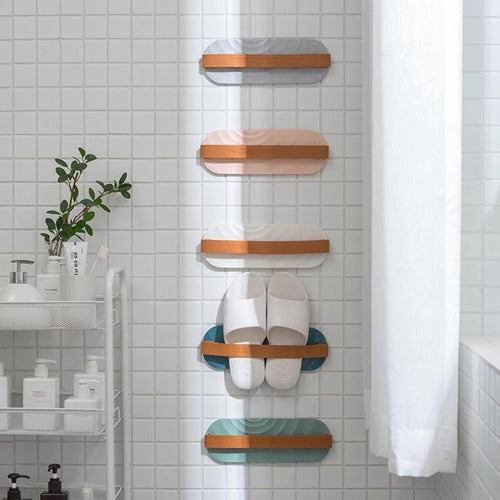 Wall-mounted Slippers Storage Rack