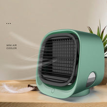 Load image into Gallery viewer, Mini Negative Ion Air Conditioning Cooling Fan Humidification Refrigeration Night Light Multifunctional USB Charging Desktop Cooler Pink