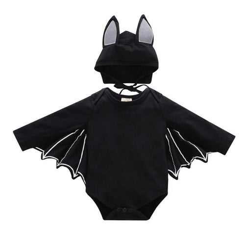 Kids Bat Jumpsuit with Hat Halloween Cosplay Costume