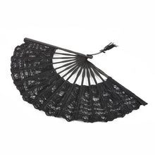 Load image into Gallery viewer, Womens Multi Color Handmade Cotton Lace Folding Hand Fan