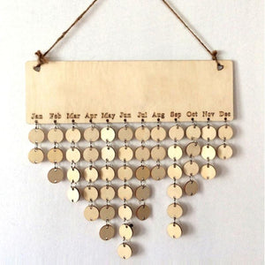 DIY Wooden Calendar Hanging Board