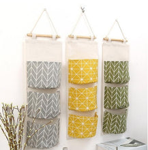 Load image into Gallery viewer, Cotton Linen Waterproof Hanging Storage Bag
