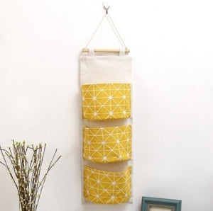 Cotton Linen Waterproof Hanging Storage Bag