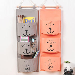 3-Pockets Wall Hanging Storage Bag