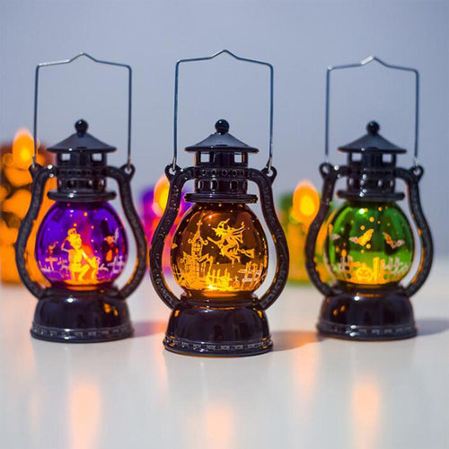 Halloween Led Lantern Vintage Witch Castle Party Hanging Light