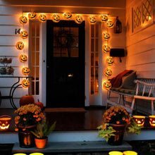 Load image into Gallery viewer, 10 LED Pumpkin String Fairy Lights Lantern Party Home Props Halloween