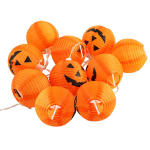 10 LED Pumpkin String Fairy Lights Lantern Party Home Props Halloween