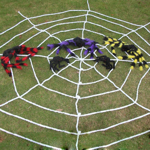Halloween Spiders Web Stretchy Cobweb Spider House Cosplay Props