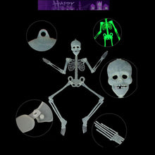 Load image into Gallery viewer, Halloween Scary Horror Skeleton Head Bones luminous Skull