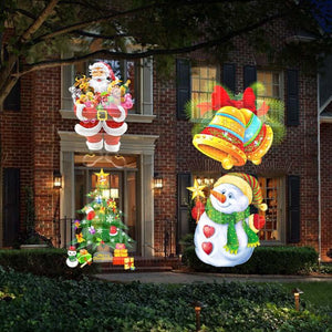 Flashlight Christmas projection lamp 12 pattern projection lamp USB rechargeable