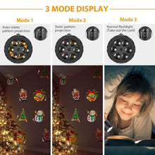Load image into Gallery viewer, Flashlight Christmas projection lamp 12 pattern projection lamp USB rechargeable