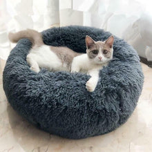 Load image into Gallery viewer, Round Plush Cat Bed