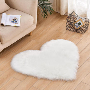 Heart Shaped Fluffy Rugs