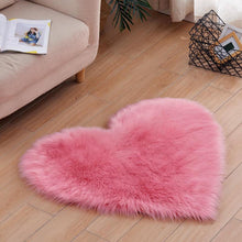 Load image into Gallery viewer, Heart Shaped Fluffy Rugs