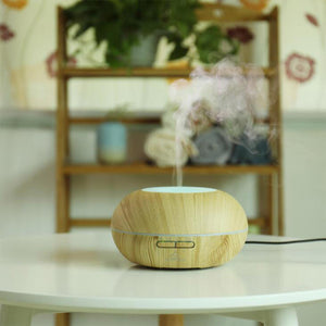 300ML Shallow Wooden-grain Aroma Diffuser