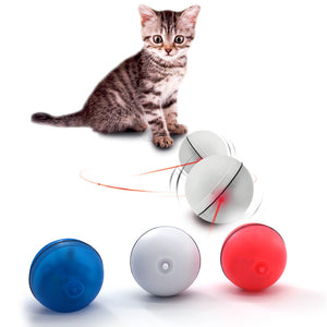 Cat Dog LED Laser Red Light Electronic Rolling Ball
