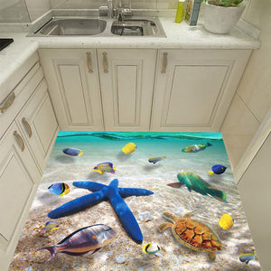 3D Starfish Floor Wall Sticker Removable