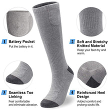 Load image into Gallery viewer, Rechargeable & Washable Lithium Battery Heating Socks
